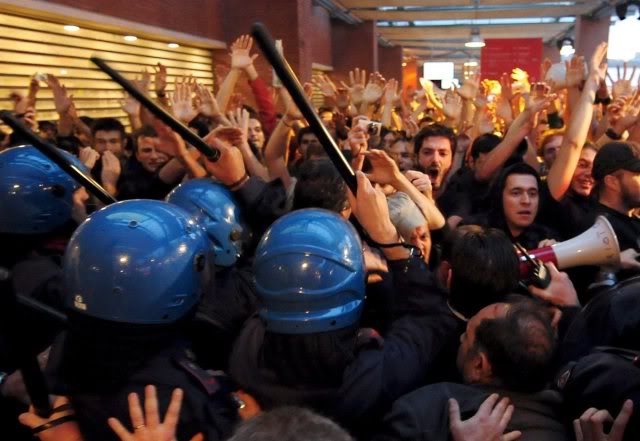 Protesters At Rome Film Festival Opening Night