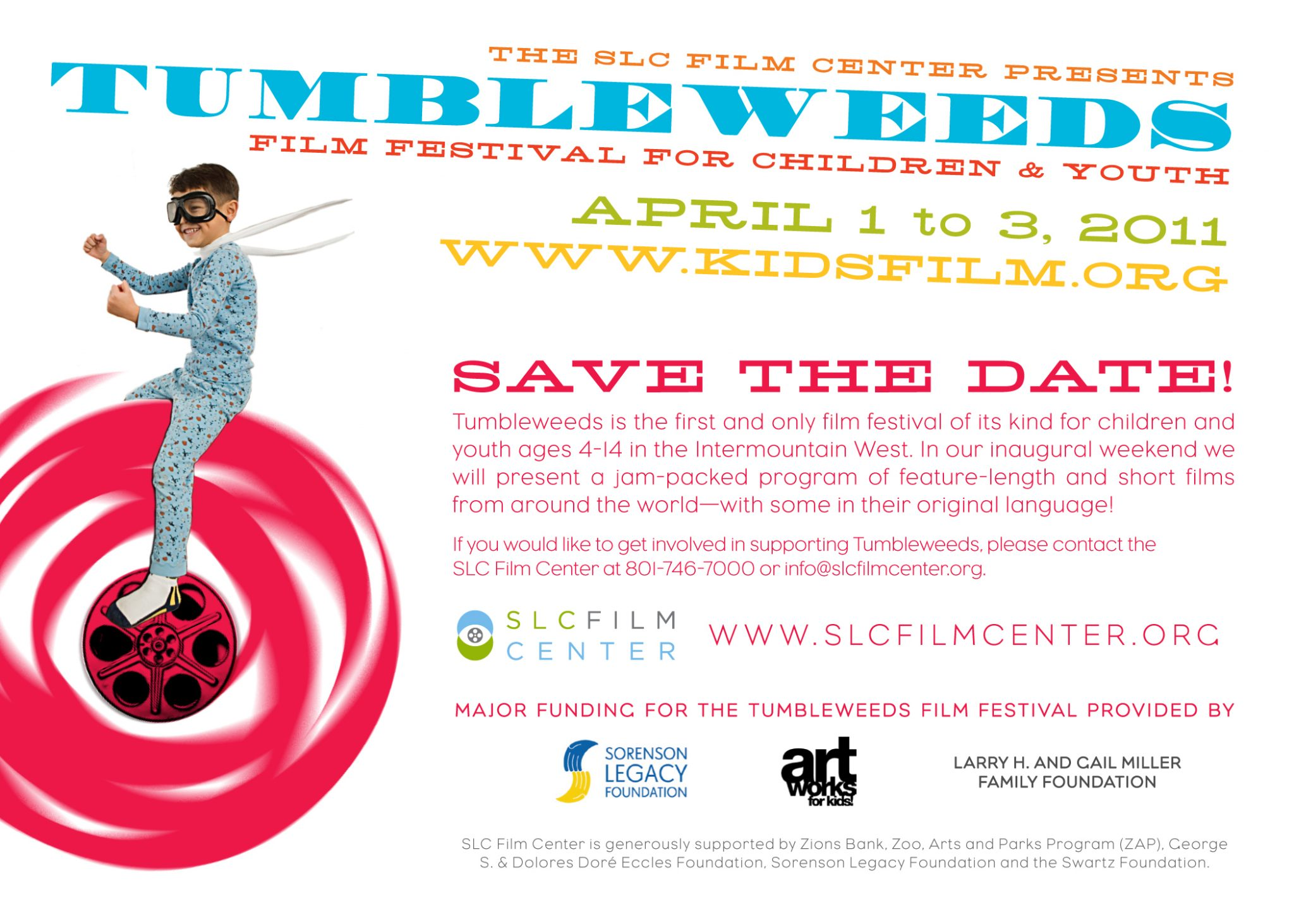 Inaugural Tumbleweeds Film Festival for Children and Youth in Salt Lake City, Utah