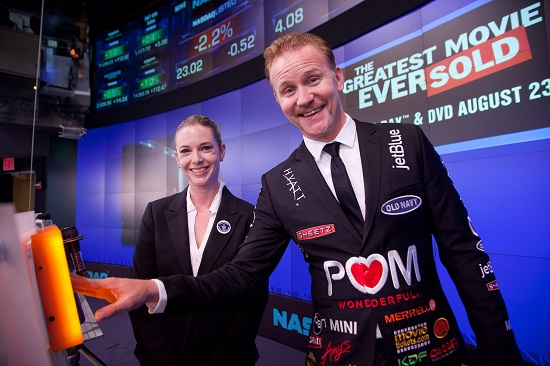 Morgan Spurlock rings NASDAQ Closing Bell to celebrate Guinness World Record for The Greatest Movie Ever Sold