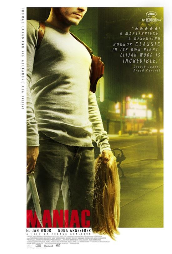 New Poster for Serial Killer Movie MANIAC Starring Elijah Wood