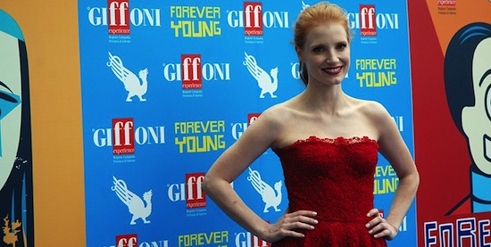 Actress Jessica Chastain Honored at 2013 Giffoni Film Festival