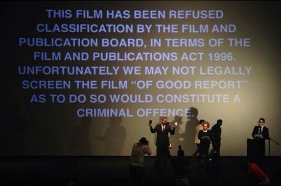 "Durban International Film Festival Opening Night Film Screening of ""OF GOOD REPORT"" Canceled; Government Refuses to Allow Sreening"