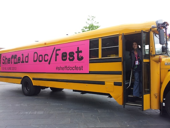 BLACKFISH director Gabriela Cowperthwaite on the Doc/Fest bus