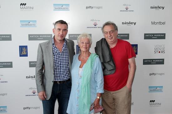 Judi Dench, Steve Coogan and Stephen Frears, stars of PHILOMENA at 70th Venice Film Festival