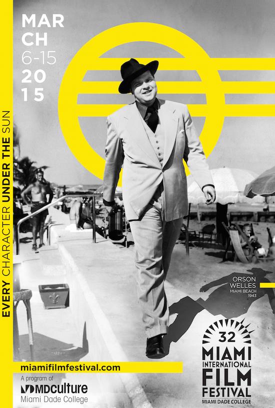 Miami International Film Festival Unveils 2015 Poster Featuring Orson Welles Strolling in Miami Beach