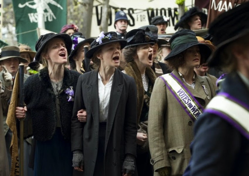 SUFFRAGETTE, starring Carey Mulligan, Helena Bonham Carter and Meryl Streep,