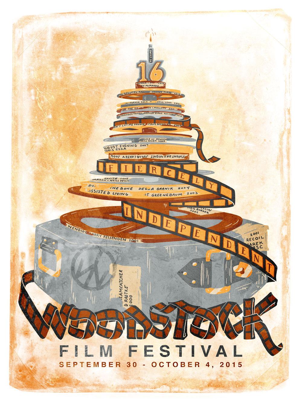 2015 Woodstock Film Festival Official Poster Art by JOY + NOELLE
