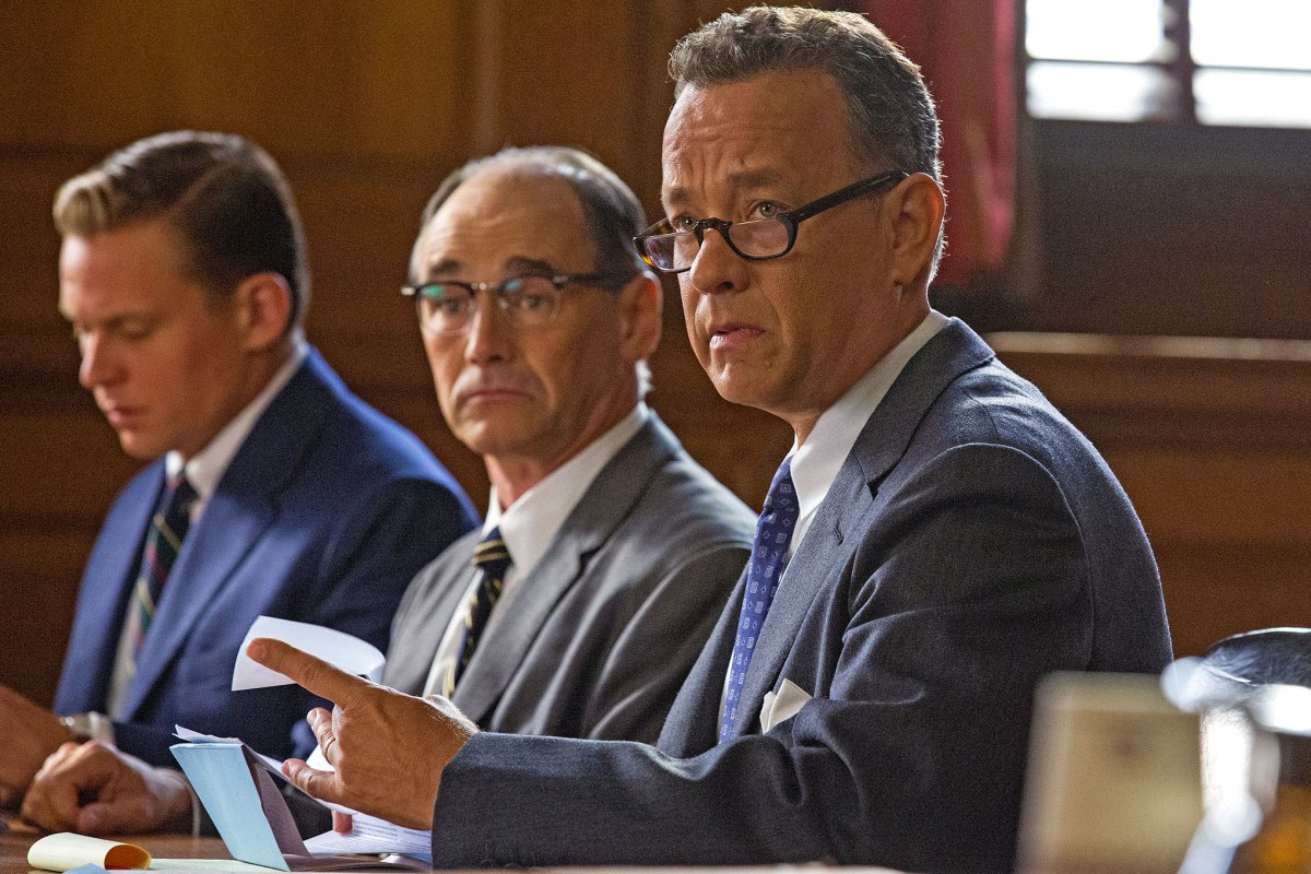 Steven Spielberg's Bridge of Spies, starring Tom Hanks and Mark Rylance