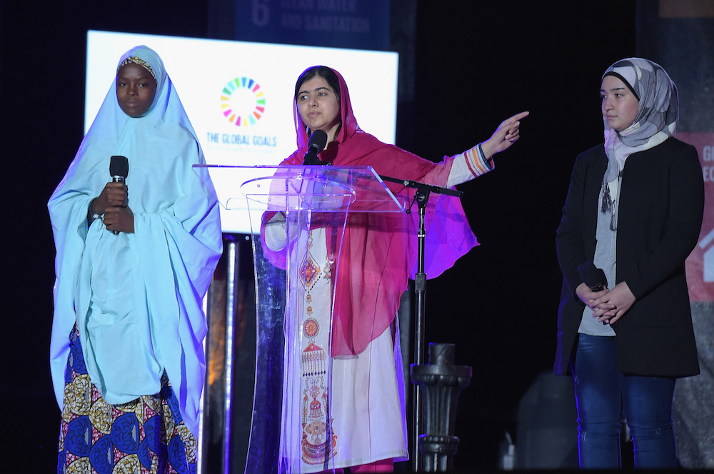 Activist Malala Yousafzai, HE NAMED ME MALALA, at 2015 Global Citizen Festival in Central Park NYC