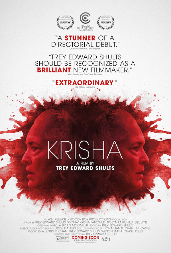 Official Poster for KRISHA Written and Directed by Trey Edward Shults