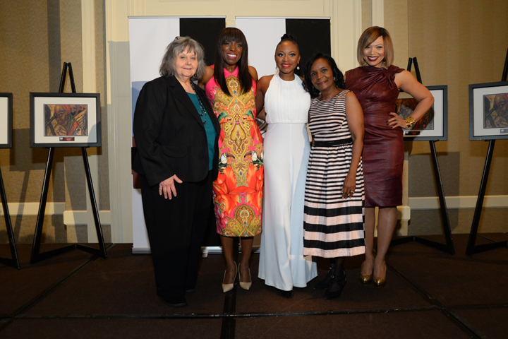 Fran Burst, Mikki Taylor, Naturi Naughton, Sheryl Gripper, Tisha Campbell-Martin at The Black Women Film Network