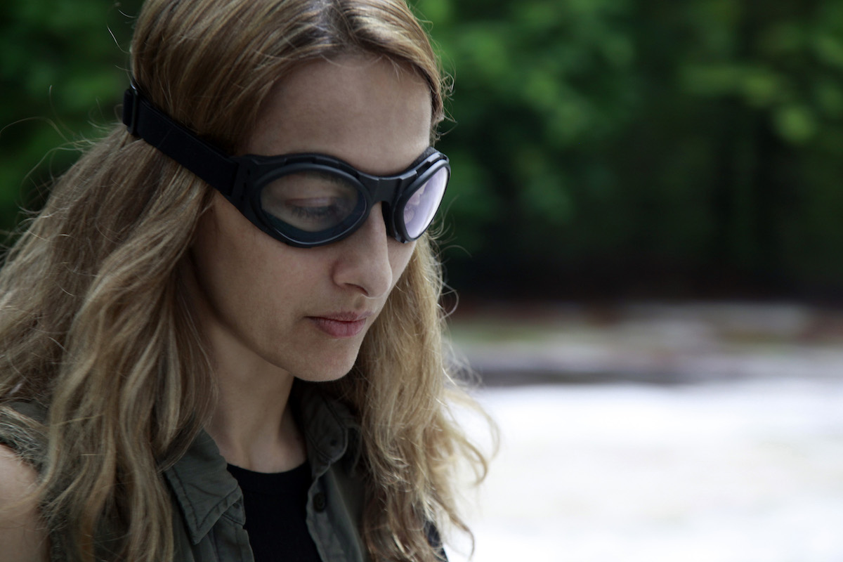 Ana Cecilia Stieglitz as Pasajera Angelina in Icaros: A Vision.