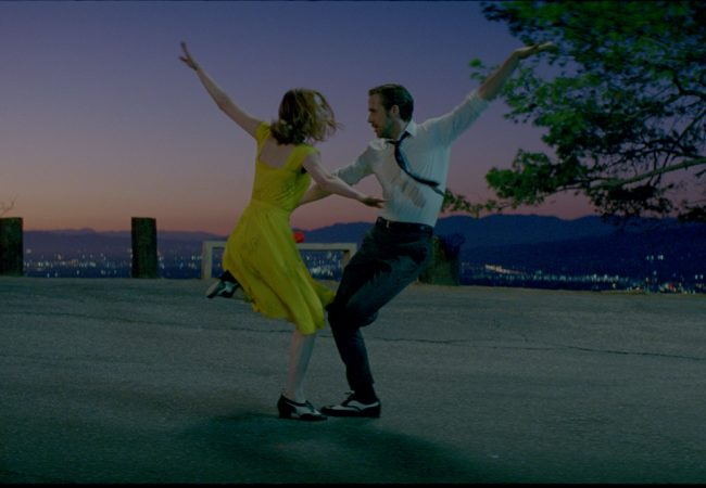 Sebastian (Ryan Gosling) and Mia (Emma Stone) in LA LA LAND. Photo courtesy of Lionsgate.