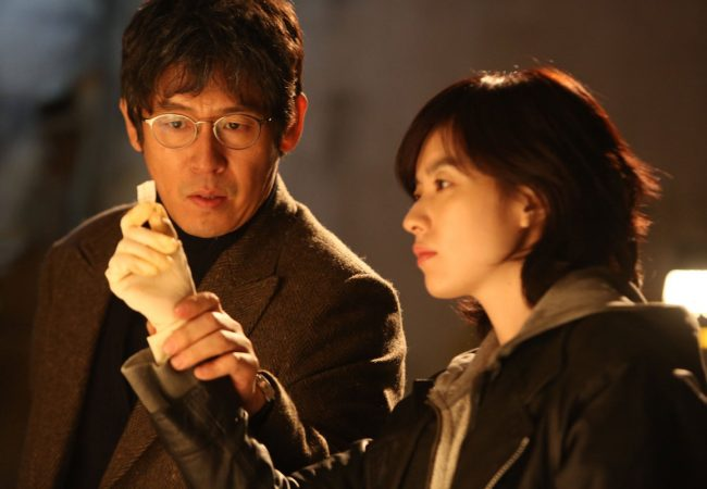 Seol Kyeongku and Han Hyo-joo, in Cold Eyes (2013)