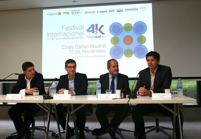 4K technology comes to the San Sebastian Film Festival with Hispasat