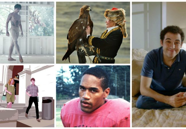 Clockwise (from top r) Dancer; The Eagle Huntress; Life, Animated; O.J.: Made in America; Tower