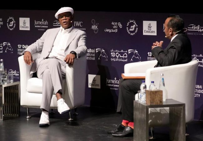 "Samuel L. Jackson Talks 'Oscar bait"" Movies at Dubai International Film Festival"