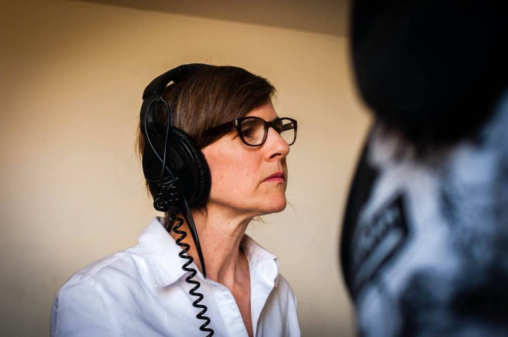 Margo Pelletier directing on the set of THIRSTY