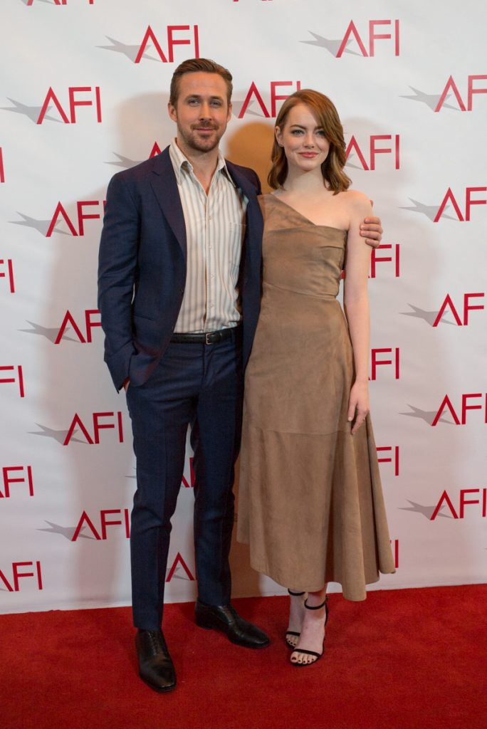 Ryan Gosling and Emma Stone at the AFI AWARDS 2016 luncheon at the Four Seasons in Beverly Hills, CA, on January 6, 2017.