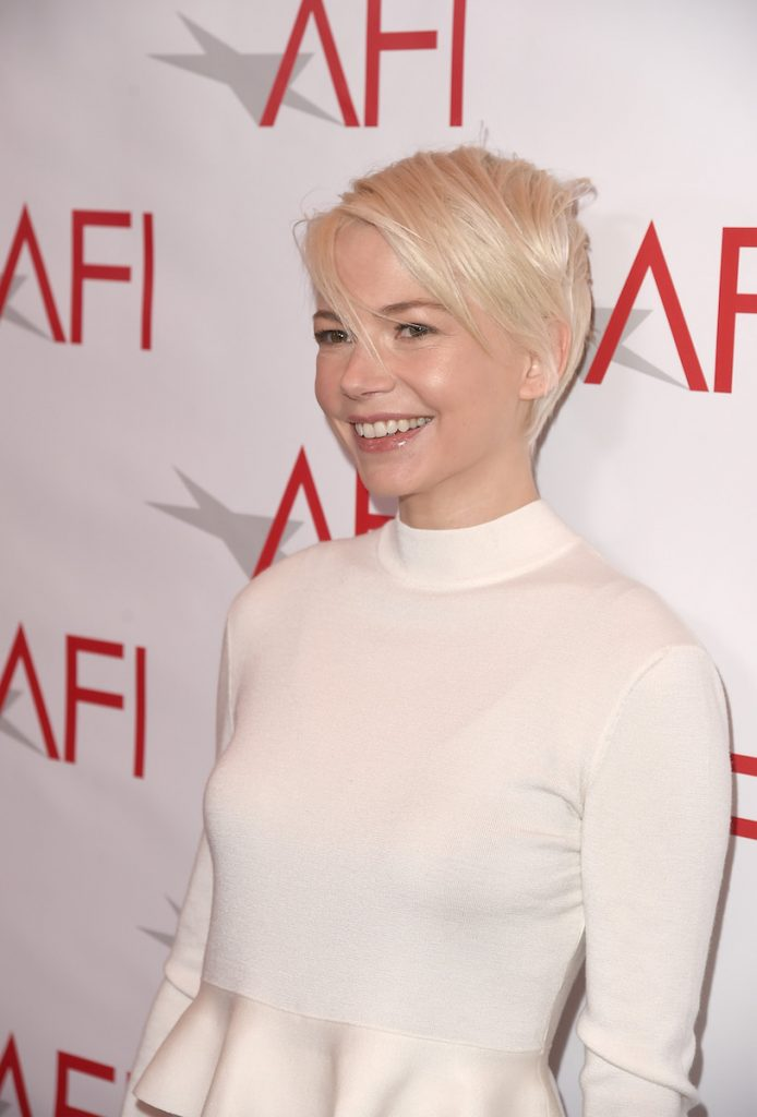 Michelle Williams at the AFI AWARDS 2016 luncheon at the Four Seasons in Beverly Hills, CA, on January 6, 2017.