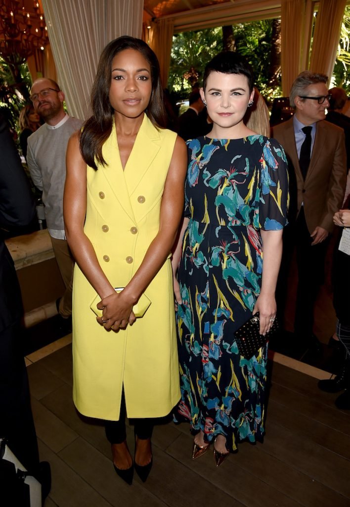 Naomie Harris and Ginnifer Goodwin at the AFI AWARDS 2016 luncheon at the Four Seasons in Beverly Hills, CA, on January 6, 2017.
