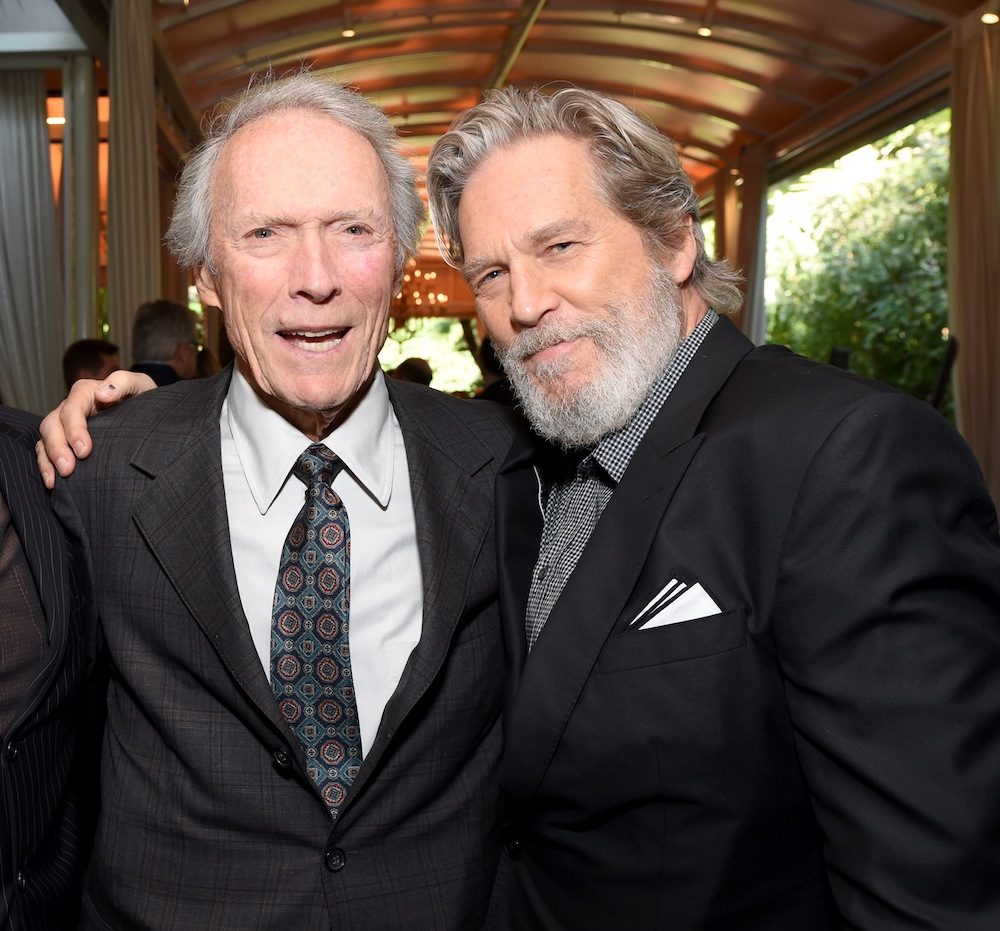 LOS ANGELES, CA - JANUARY 06: (L-R) Actor Gil Birmingham, director Clint Eastwood and actor Jeff Bridges attend the 17th annual AFI Awards at Four Seasons Los Angeles at Beverly Hills on January 6, 2017 in Los Angeles, California. (Photo by Frazer Harrison/Getty Images for AFI)