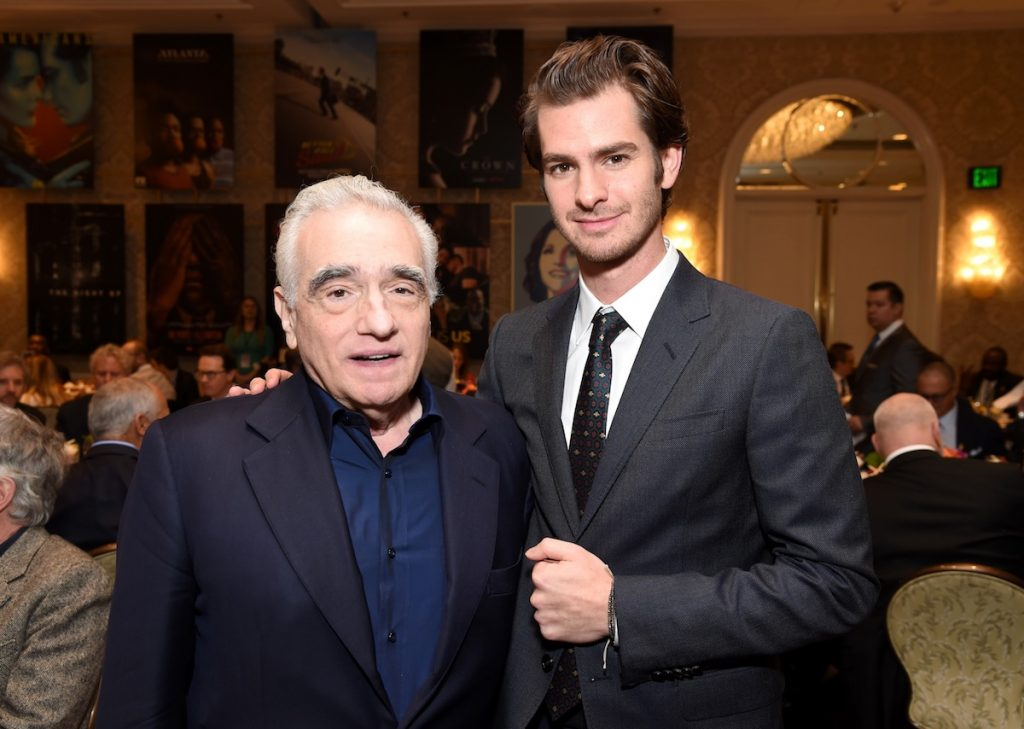 Martin Scorsese and Andrew Garfield at the AFI AWARDS 2016 luncheon at the Four Seasons in Beverly Hills, CA, on January 6, 2017.
