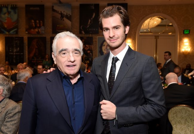 LOS ANGELES, CA - JANUARY 06: Director Martin Scorsese (L) and actor Andrew Garfield attend the 17th annual AFI Awards at Four Seasons Los Angeles at Beverly Hills on January 6, 2017 in Los Angeles, California. (Photo by Frazer Harrison/Getty Images for AFI)