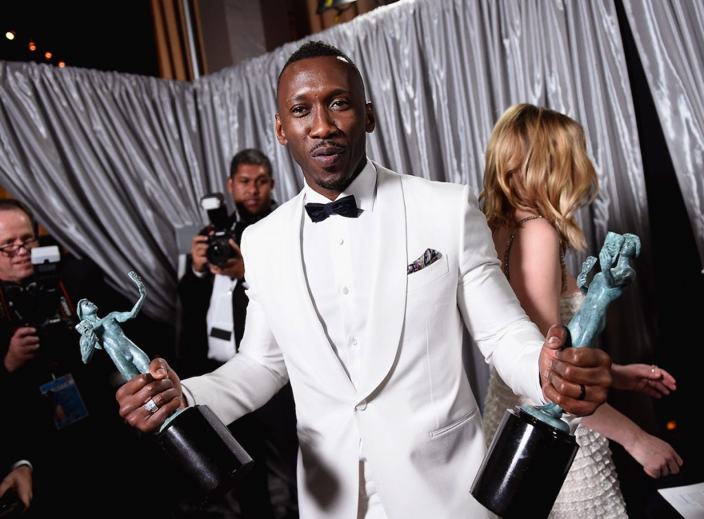 Actor Mahershala Ali, winner of the awards for Outstanding Male Actor in a Supporting Role for'Moonlight'