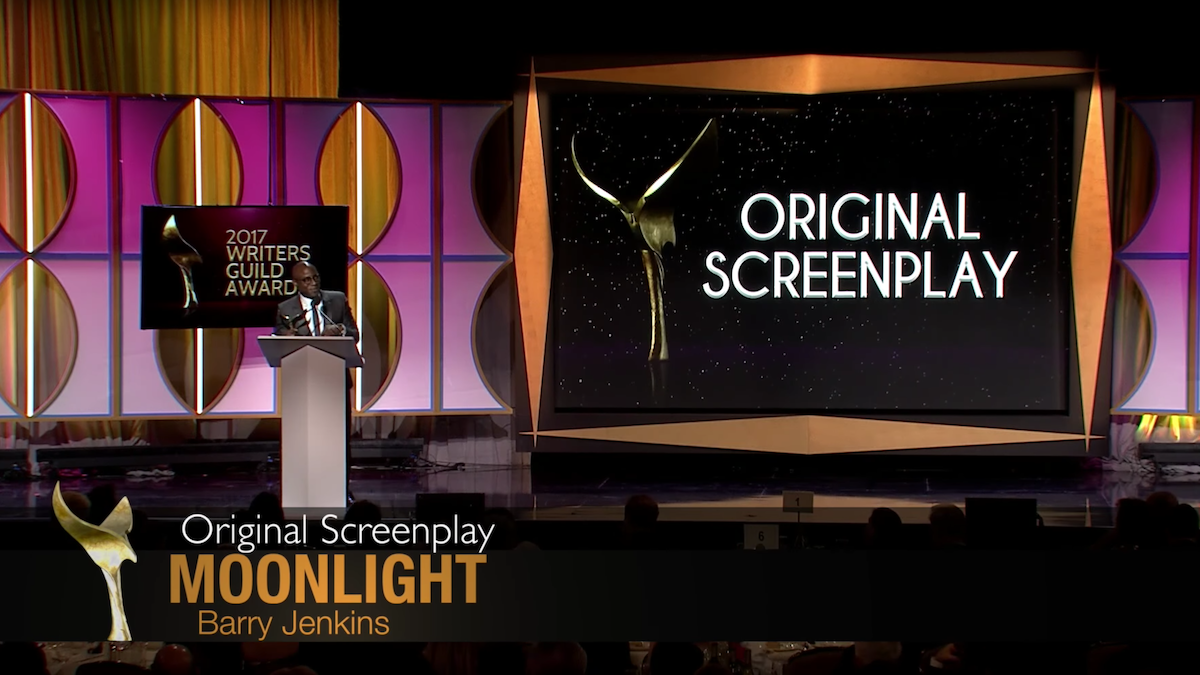 ORIGINAL SCREENPLAY Moonlight, Screenplay by Barry Jenkins, Writers Guild Awards 2017