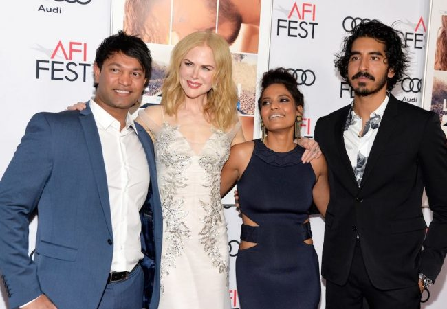 Writer Saroo Brierley, Nicole Kidman, Priyanka Bose and Dev Patel at AFI FEST 2016 Presented by Audi Special Screening of LION in Hollywood, CA, on November 11, 2016.
