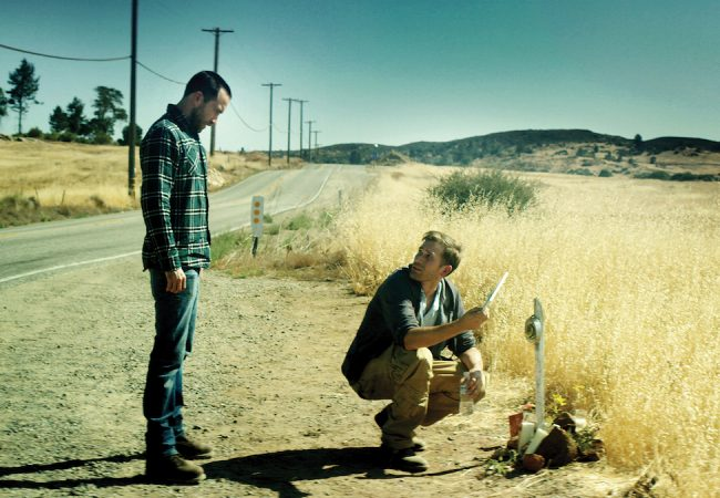 Justin Benson as Justin and Aaron Moorhead as Aaron in THE ENDLESS. Photographer: William Tanner Sampson.