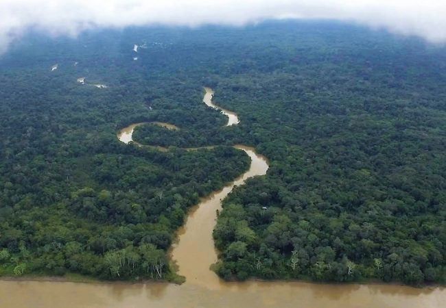 The Amazon River. Film still from A RIVER BELOW. Photo credit: Helkin RenÈ Diaz.