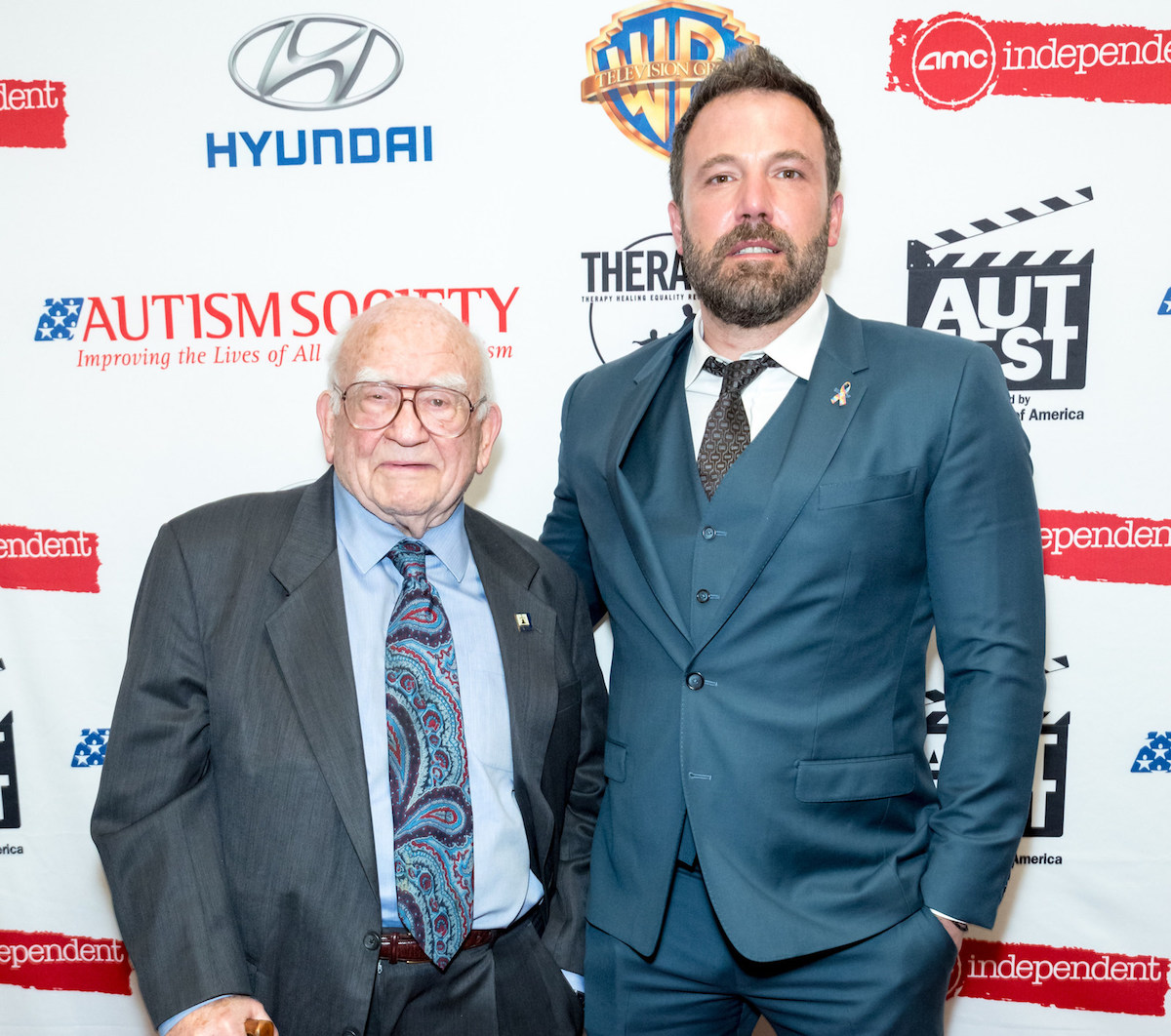 Ed Asner and AutFest honoree Ben Affleck