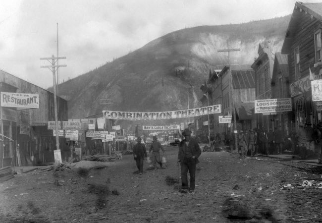 First Avenue in Dawson City, 1898. - DAWSON CITY: FROZEN TIME