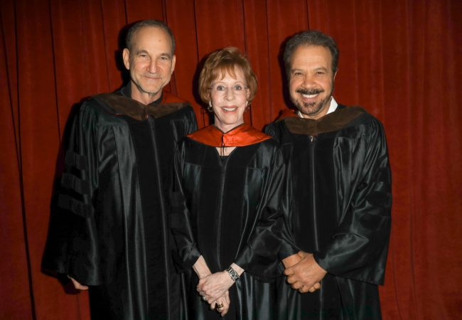 AFI 2017 Honorary Degree recipients Marshall Herskovitz, Carol Burnett and Edward Zwick