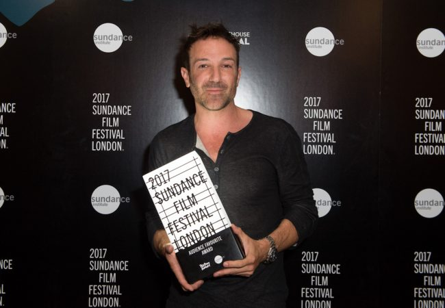 Bryan Fogel, Director of Icarus, Receives the Audience Favourite award at Sundance Film Festival London at Picturehouse Central on 04 June 2017