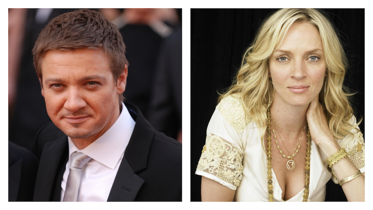 Jeremy Renner and Uma Thurman