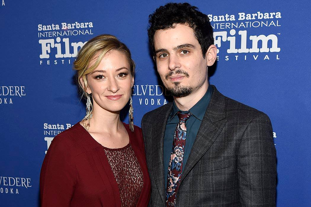 Director Damien Chazelle and Olivia Hamilton attending the Outstanding Performers of the Year Tribute presented by Belvedere Vodka honoring Ryan Gosling and Emma Stone — at Santa Barbara International Film Festival.
