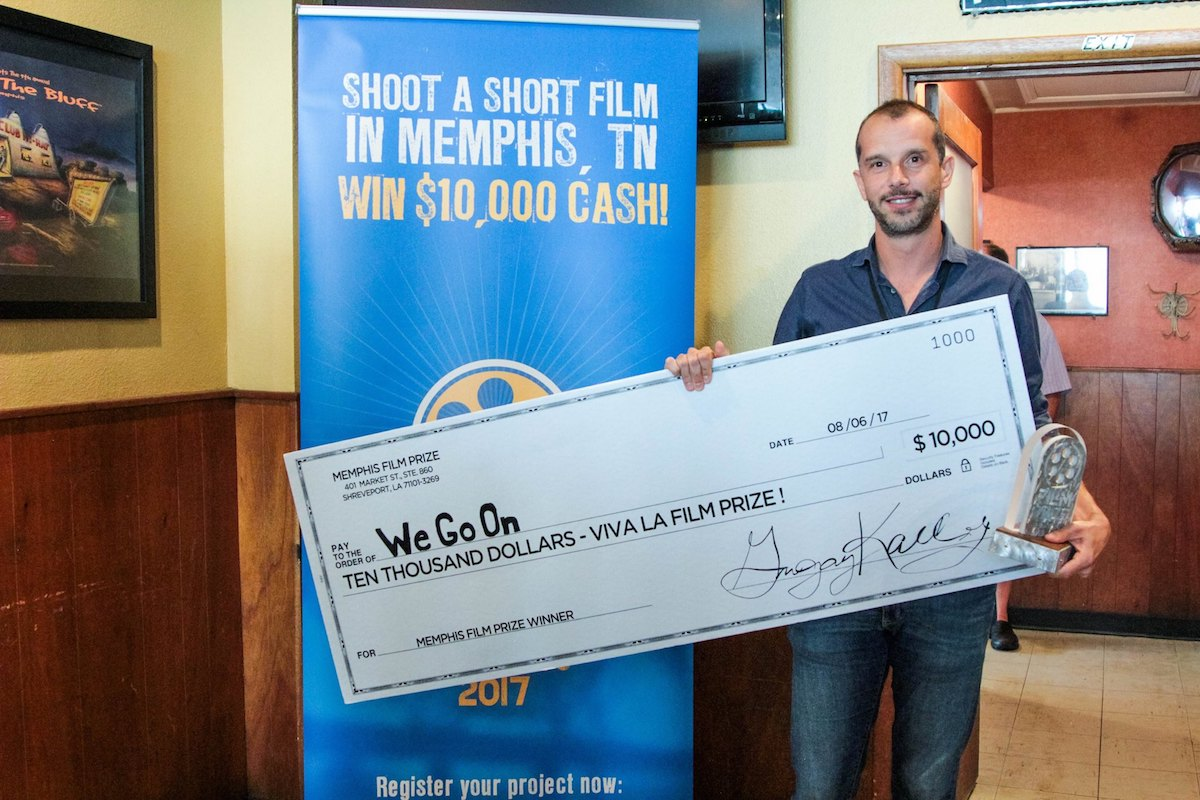 Mattteo Servente, director of WE GO ON, Winner 2017 Memphis Film Prize