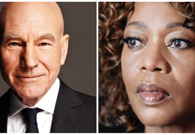Sir Patrick Stewart and Alfre Woodard