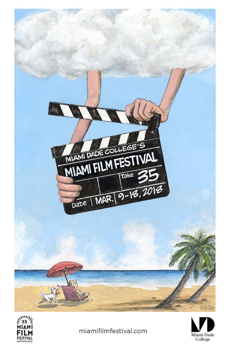Miami Film Festival 2018 Festival Poster Created by Jim Morin