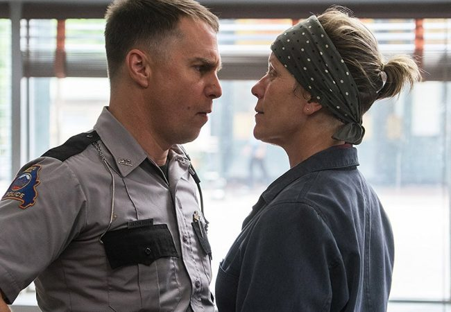 "Sam Rockwell, left, and Frances McDormand in ""Three Billboards Outside Ebbing, Missouri"