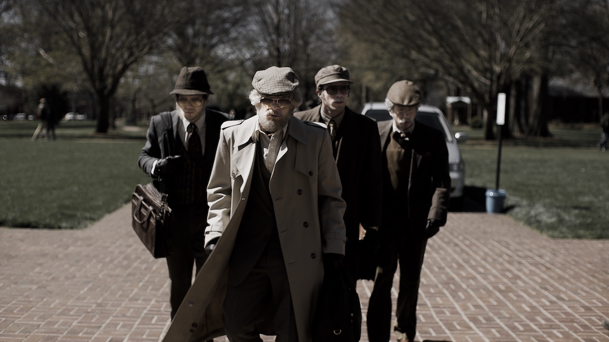 Jared Abrahamson, Evan Peters, Blake Jenner and Barry Keoghan appear in American Animals by Bart Layton, an official selection of the U.S. Dramatic Competition at the 2018 Sundance Film Festival. Courtesy of Sundance Institute.