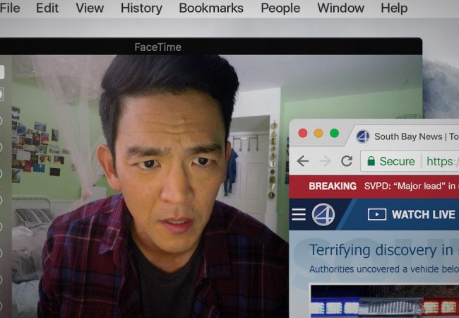 John Cho appears in Search by Aneesh Chaganty, an official selection of the NEXT program at the 2018 Sundance Film Festival. photo by Juan Sebastian Baron.