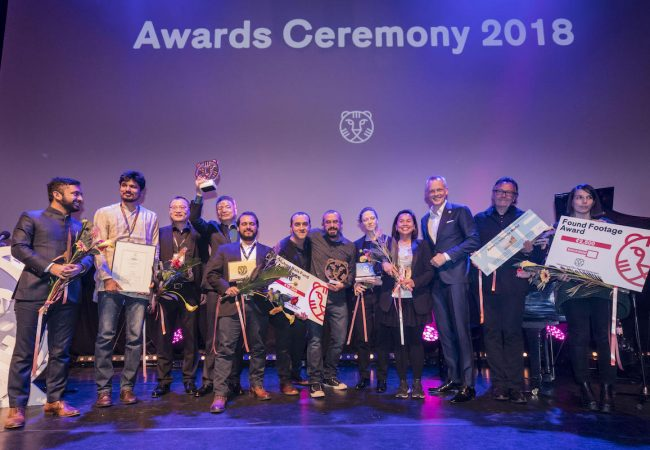 The Netherlands, Rotterdam, 02 February 2018. The 47th International Film Festival Rotterdam - IFFR 2018. IFFR 2018 Award Ceremony. All winners on stage after ceremony. Photo: 31pictures.nl / (c) 2018, www.31pictures.nl