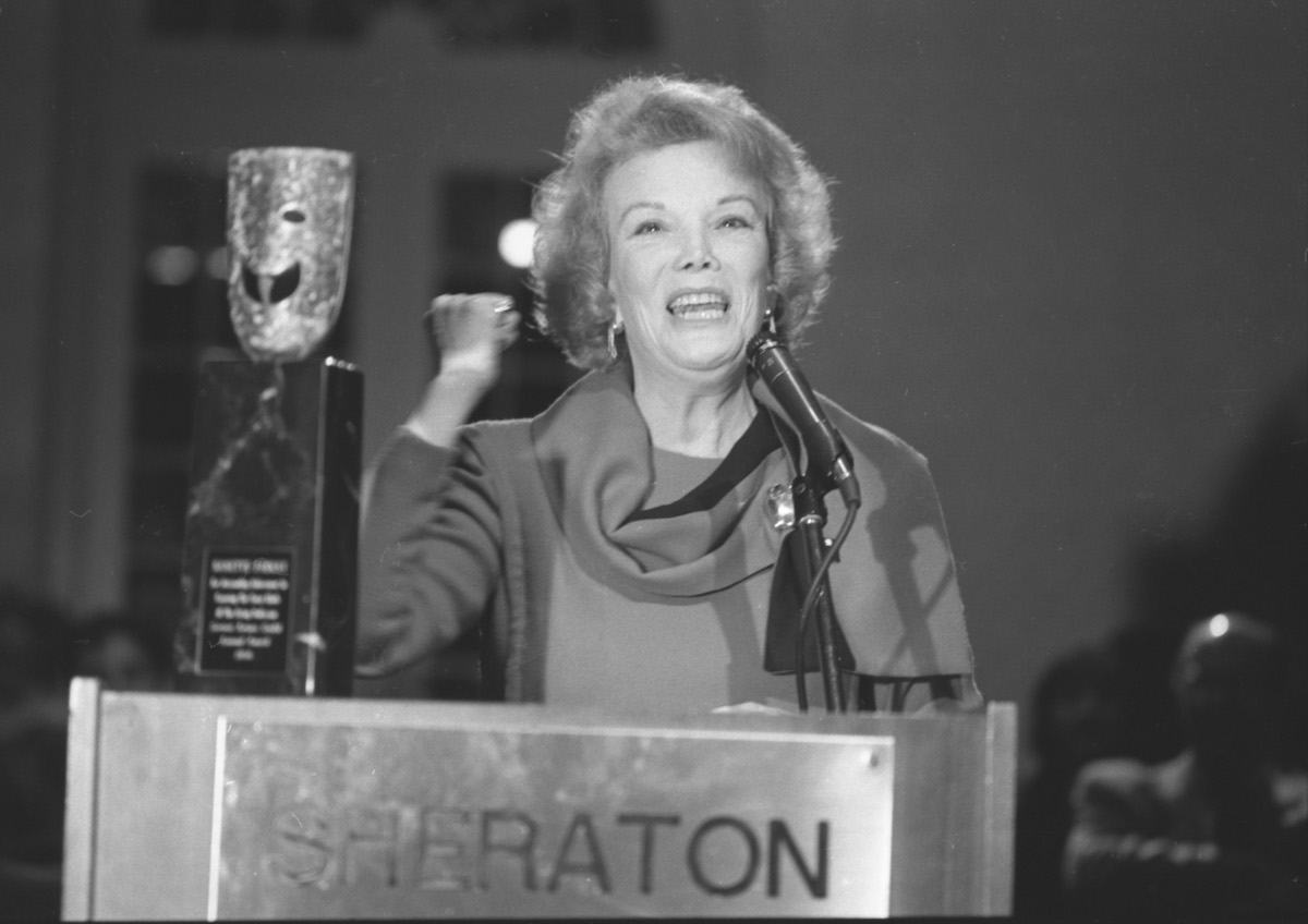 Nanette Fabray accepts the 23rd Screen Actors Guild Life Achievement Award in 1986. Photo: SAG-AFTRA