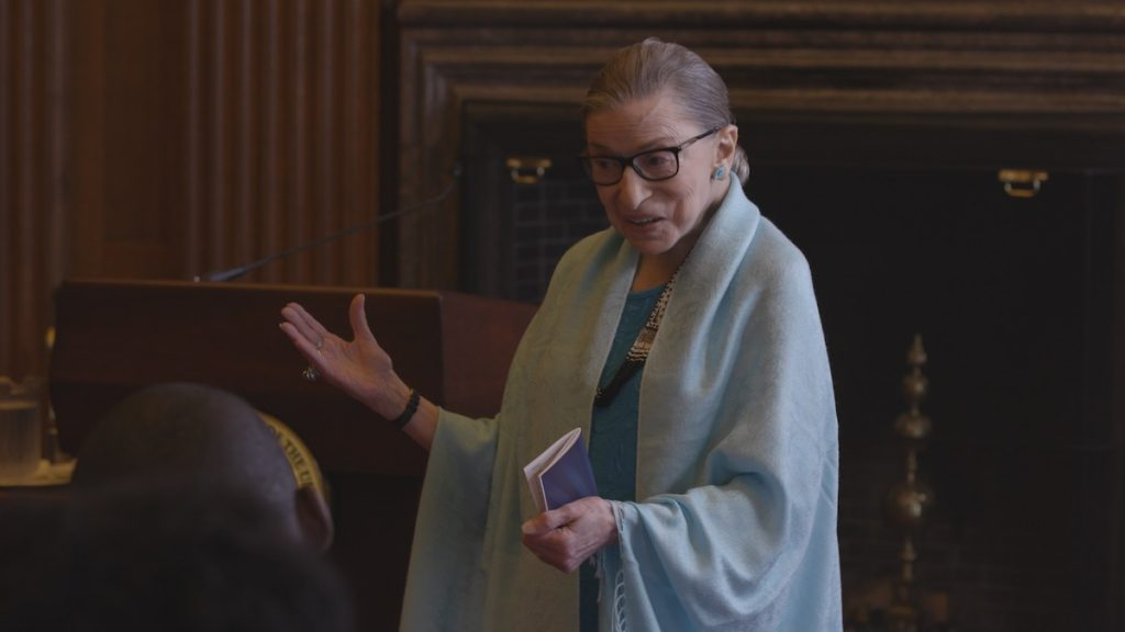 Ruth Bader Ginsburg in RBG by Betsy West and Julie Cohen