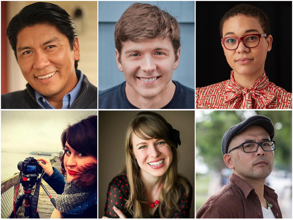 2018 SIFF Fly Filmmakers are Jeff Barehand (Olympia), Graham Bourque (Ellensburg), Myisa Plancq-Graham (Seattle), Elliat Graney-Saucke (Seattle), Kendra Ann Sherrill (Spokane), Masahiro Sugano (Tacoma)