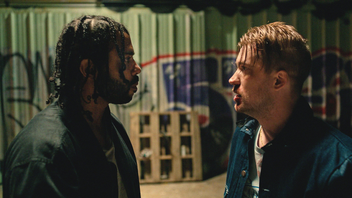 Daveed Diggs and Rafael Casal appear in Blindspotting by Carlos López Estrada